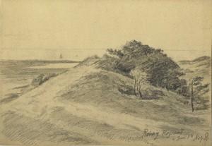 Holger Drachmanns tegning af Højsandet
